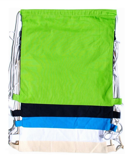 "15""x16"" Cotton Drawstring Bags/Backpacks"