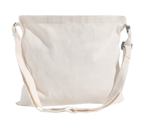 "13""x15"" Natural cotton twill messenger bag"