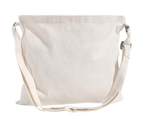 """13""""x15"""" Natural cotton twill messenger bag"""