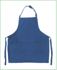"""23""""x30"""" Washed Denim Full Apron with 2 Pockets"""