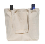 "11""x13""x4"" Natural Twill Double Wine Bag"
