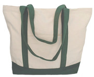 "19""x14""x5"" Cotton Canvas Boat Bag"