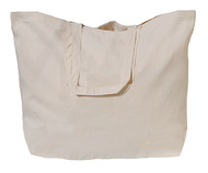 """23""""x16""""x7"""" Extra Large Natural Cotton Twill Tote Bag"""
