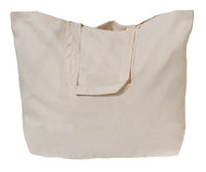 "23""x16""x7"" Extra Jumbo Natural Cotton Twill Tote Bag"