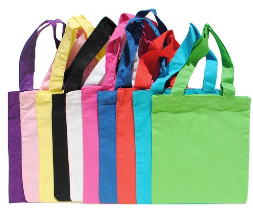 """Wholesale 8""""x9"""" Cotton Color Bags, 5 oz 100% cotton. Perfect for arts & crafts, advertising, parties, books, promotional, customizing, personalizing, school, church, wedding, fundraising, artists, gifts, resale & everyday use."""