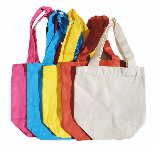 """Wholesale 8""""x8""""x4"""" Cotton Twill Bags, 7 oz 100% premium cotton twill. Perfect for arts & crafts, advertising, parties, promotional, customizing, personalizing, school, church, wedding, fundraising, artists, gifts, goodies, resale & everyday use."""