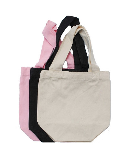 "Wholesale 8""x8""x4"" Color Cotton Canvas Bags, heavy 10oz 100% cotton canvas. Perfect for arts & crafts, advertising, parties, promotional, customizing, personalizing, school, church, wedding, fundraising, artists, gifts, goodies, resale & everyday use."