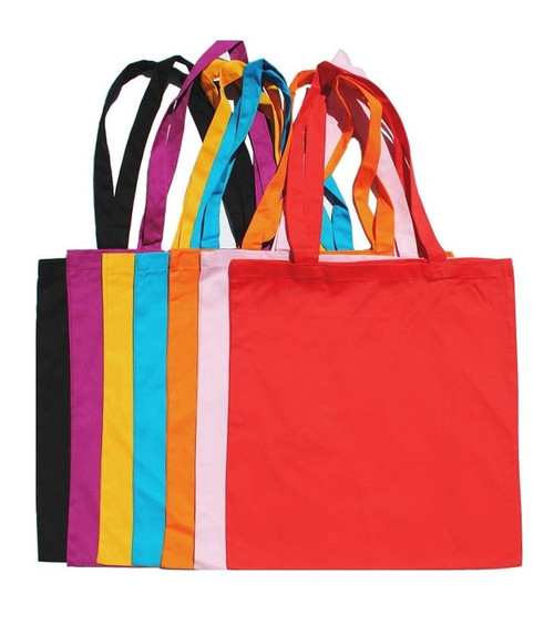 """Wholesale 15""""x16"""" Color Cotton Twill Tote Bags, 8 oz 100% premium cotton twill. Perfect for arts & crafts, advertising, parties, books, promotional, customizing, personalizing, school, church, wedding, shopping, groceries, fundraising, artists, gifts, resale & everyday use."""