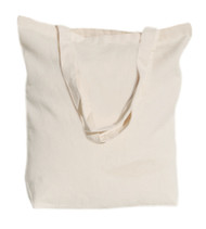 "Wholesale 16""x16""x4"" Natural Cotton Twill Tote Bag"
