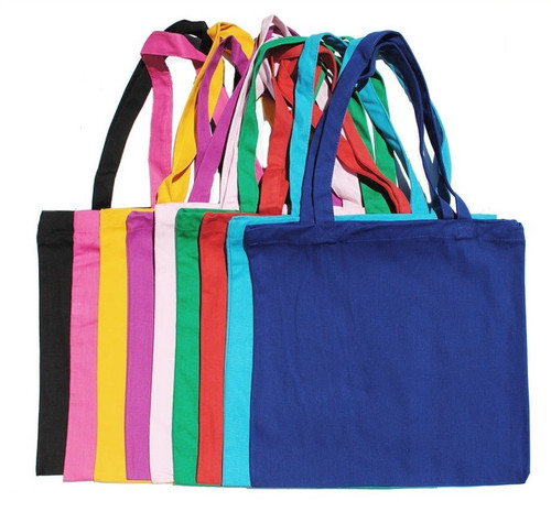 """Wholesale 15""""x15"""" Color Cotton Canvas Tote Bags, heavy 10 oz 100% cotton canvas. Perfect for arts & crafts, advertising, parties, books, promotional, customizing, personalizing, school, church, wedding, shopping, groceries, fundraising, artists, gifts, resale & everyday use."""