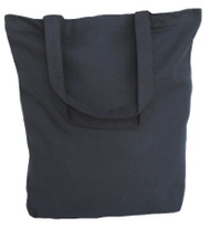 "15""x15""x4"" Black Cotton Canvas Tote Bag"
