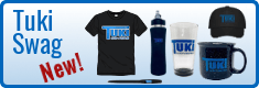 New! Purchase Tuki Swag including T shirts, mugs, glasses, hats, water bottles and pens