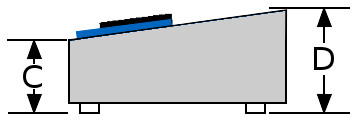 Keyboard diagram side view