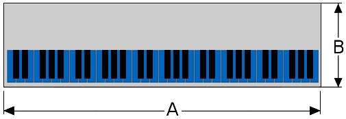 Keyboard diagram top view