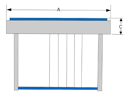 Steel guitar diagram front view