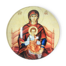 Virgin Mary and Jesus Glass Magnet