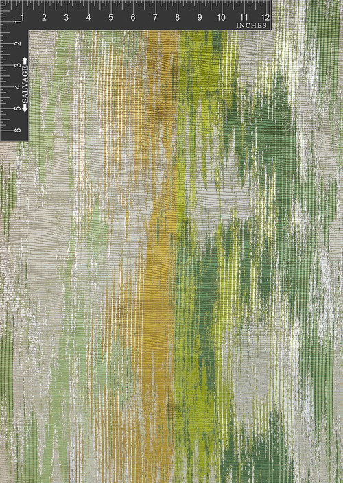 Waterfall Polyester Metallic Jacquard Designer Abstract Fabric by the Yard