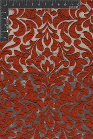 Scala Polyester Metallic Jacquard Designer Ornate Fabric by the Yard