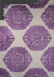 Rosette Polyester Viscose Blended Velvet Burnout Designer Floral Fabric by the Yard