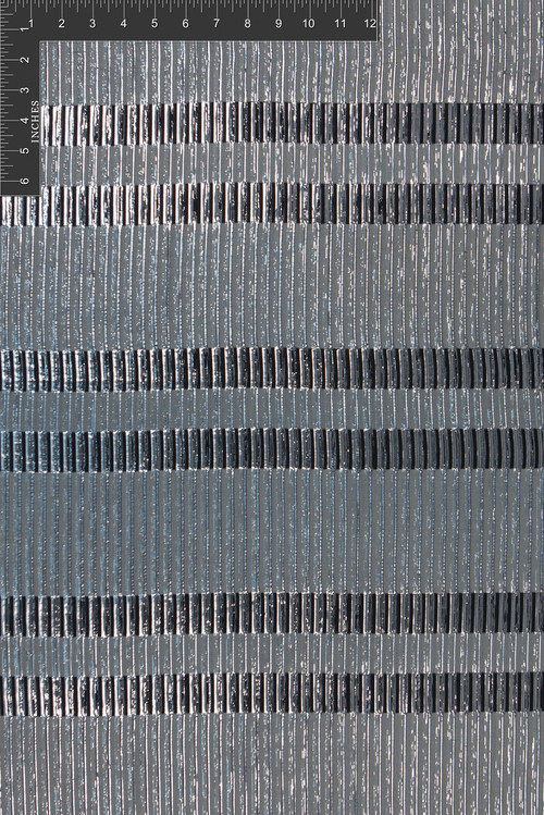 Grid Polyester Novelty Metallic Jacquard Designer Stripe Fabric by the Yard