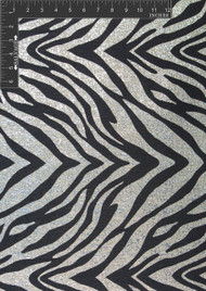 Metallic Zebra Polyester Lurex Blended Metallic Jacquard Designer Animal Print Fabric by the Yard