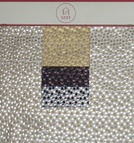 Dots Hanger Polyester Metallic Jacquard Designer Spotted Fabric by the Yard