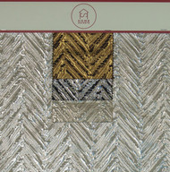 Arrow Hanger Lurex Polyester Blended Novelty Metallic Jacquard Designer Chevron Fabric by the Yard