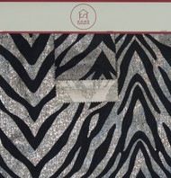 Metallic Zebra Hanger Polyester Lurex Blended Metallic Jacquard Designer Animal Print Fabric by the Yard