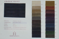 Chateau Velvet Color Card Polyester Velvet Solids Designer Solid Fabric by the Yard