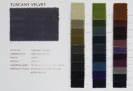 Tuscany Velvet Color Card Polyester Velvet Solids Designer Solid Fabric by the Yard