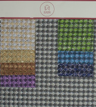 Weave Electric Hanger Polyester Metallic Polyester Designer Diamond Check Fabric by the Yard