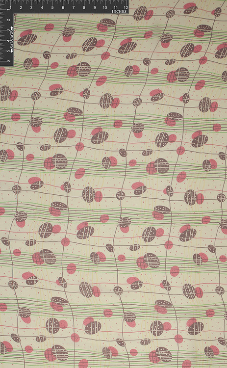 Amoeba Stripe 100% Silk Printed Georgette Fabric - HUA/008-PG
