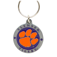 Clemson Tigers Pewter Key Chain