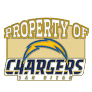 San Diego Chargers Property Of Cloisonne Pin