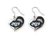New York Jets Swirl Heart Earrings