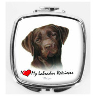 I Love My Chocolate Labrador Compact Mirror