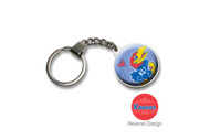 University Of Kansas Double Domed Keychain