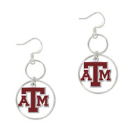 Texas A&M University Round Hoop Earrings