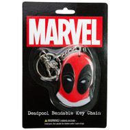 Deadpool Logo Bendable Keychain