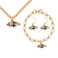 Baltimore Ravens Jewelry Gift Set