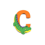 Wooden Crocodile Letter C Magnet by The Toy Workshop