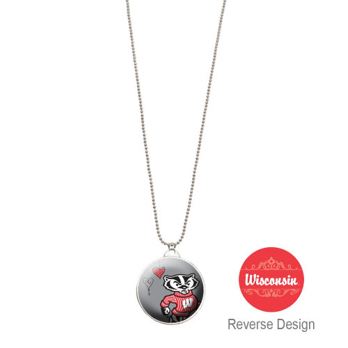 University Of Wisconsin Double Dome Necklace