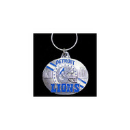 Detroit Lions Pewter Oval Keychain
