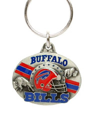 Buffalo Bills Oval Pewter Keychain