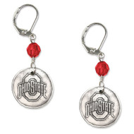 Ohio State University White Copper Earrings