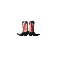 Star Spangled Boots Die-Cut Photographic Magnet