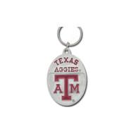 Texas A&M University Pewter Keychain NCAA