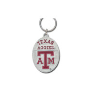 Texas A&M University Pewter Keychain NCAA