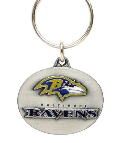 Baltimore Ravens Oval Pewter Keychain