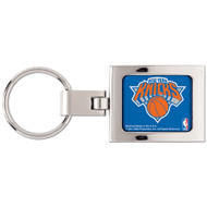 New York Knicks Domed Metal Keychain